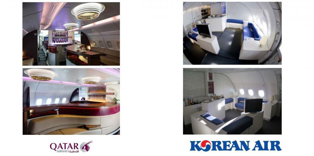 Airbus A380 บาร์เครื่องดื่ม